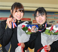 Girl's Singles Bronze and Silver